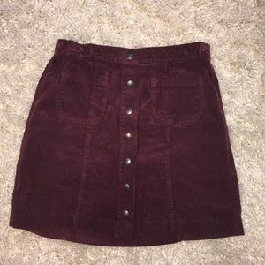 Maroon Brandy Melville Skirt